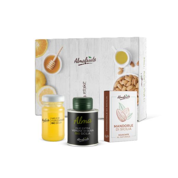 Degustakit: Miele, olio e mandorle