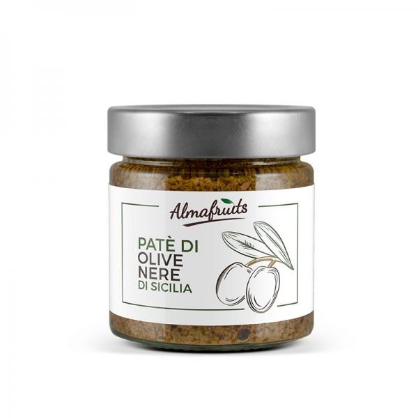 Barattolo patè di olive nere 180gr