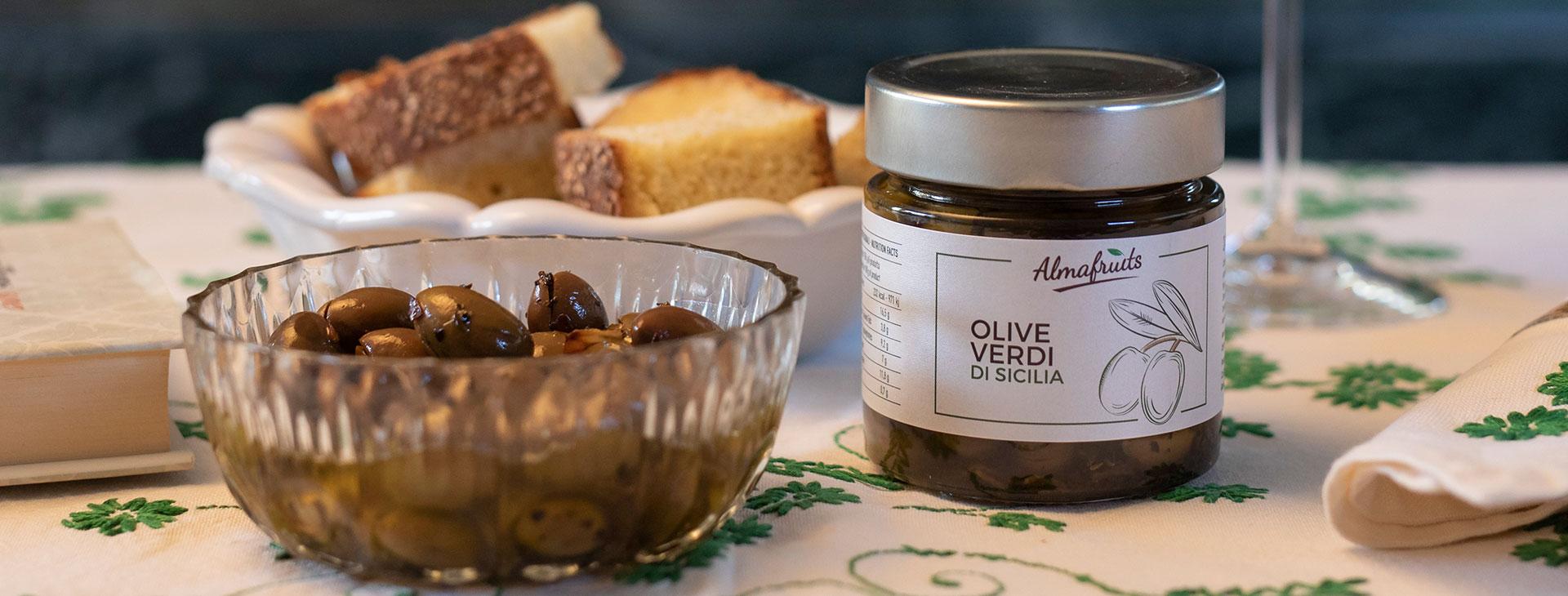 Immagine introduttiva raffigurante olive verdi
