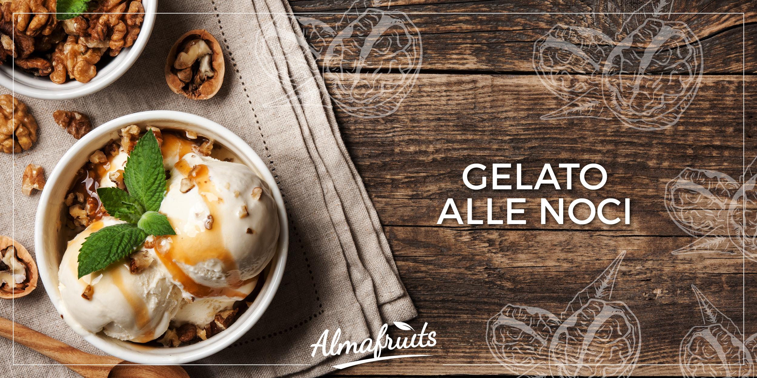 Gelato alle noci fatto in casa, anche senza gelatiera | Il Blog di Almasicily