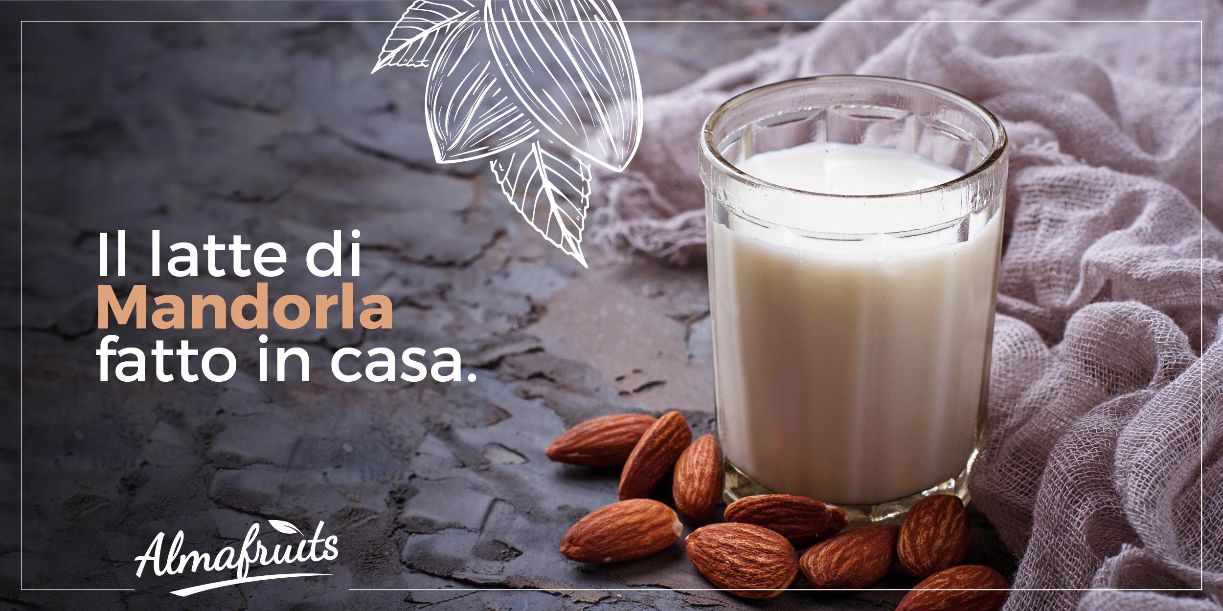 Latte di mandorle ricetta | Latte di mandorla fatto in casa: la nostra ricetta bio | Almafruits