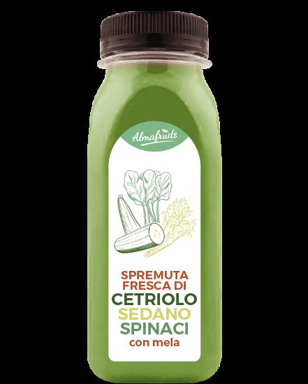 Bottiglia succo cetriolo sedano e spinaci