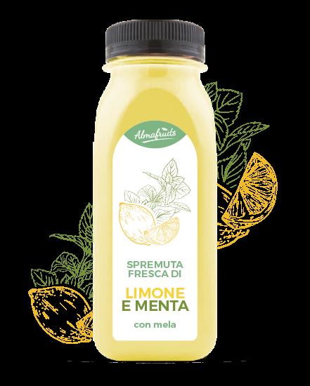 Bottiglia succo limone e menta