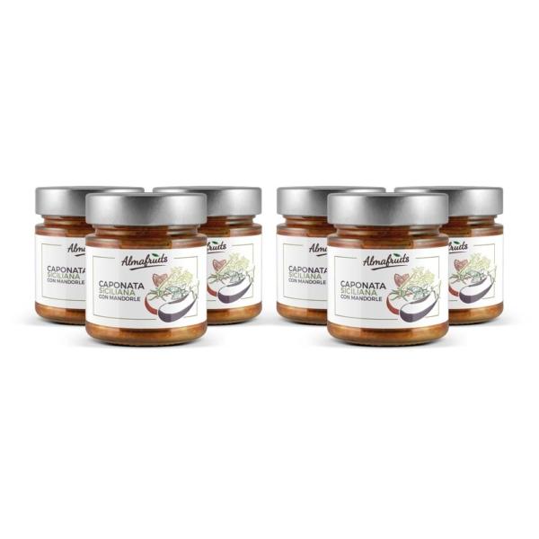 confezione 6 vasetti caponata siciliana