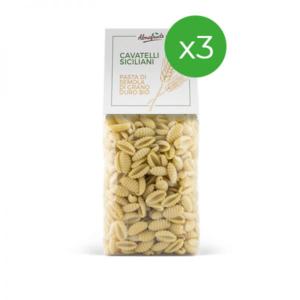 3 confezioni di cavatelli pasta di grani antichi siciliani