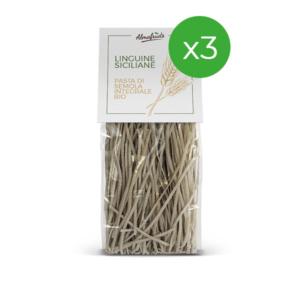 linguine pasta bio siciliana 3 confezioni