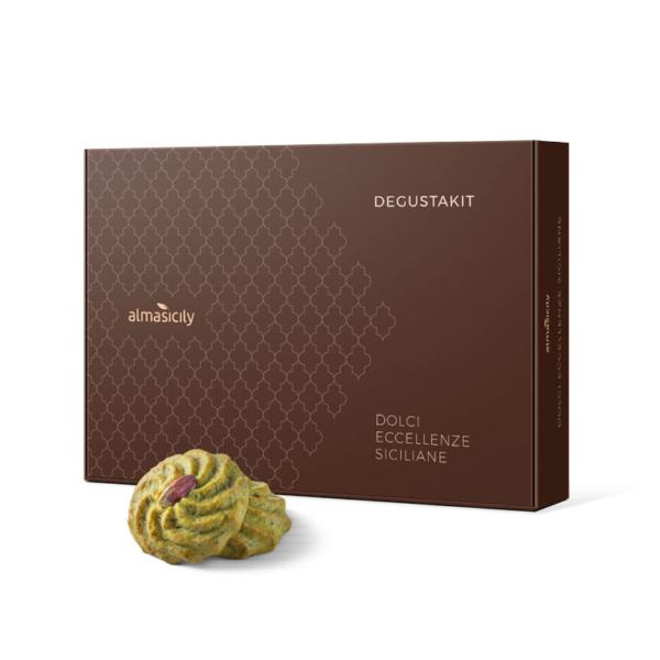 Box of pistachio sicilian sweets