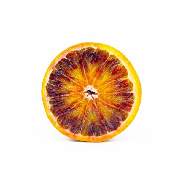 Arancia siciliana tagliata in due
