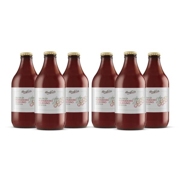 6 bottiglie di salsa di pomodorino ciliegino