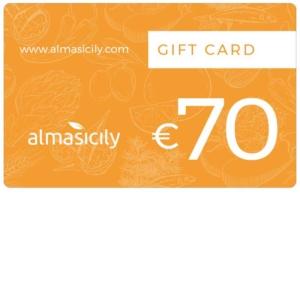 gift card prodotti siciliani 70 euro