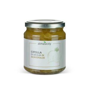 barattolo di cipolla siciliana in agrodolce